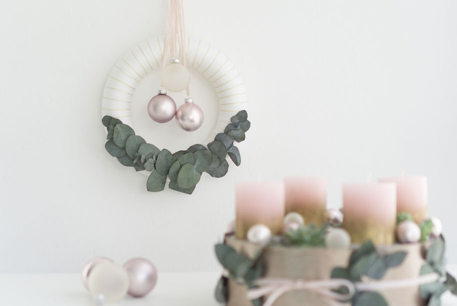 Türkranz Selber Machen Für Den Advent Mit Wolle Und Eukalyptus