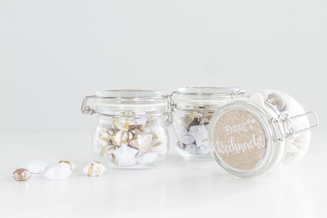 Lucky Stars Anleitung - Ein schöner Sternengruß im Einmachglas
