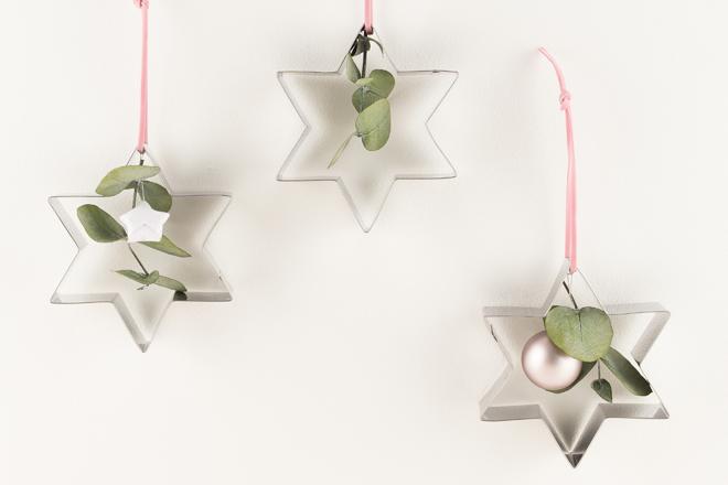 DIY Idee Weihnachtlichen Baumschmuck Basteln Mit Keksausstechern Und  Eukalyptus