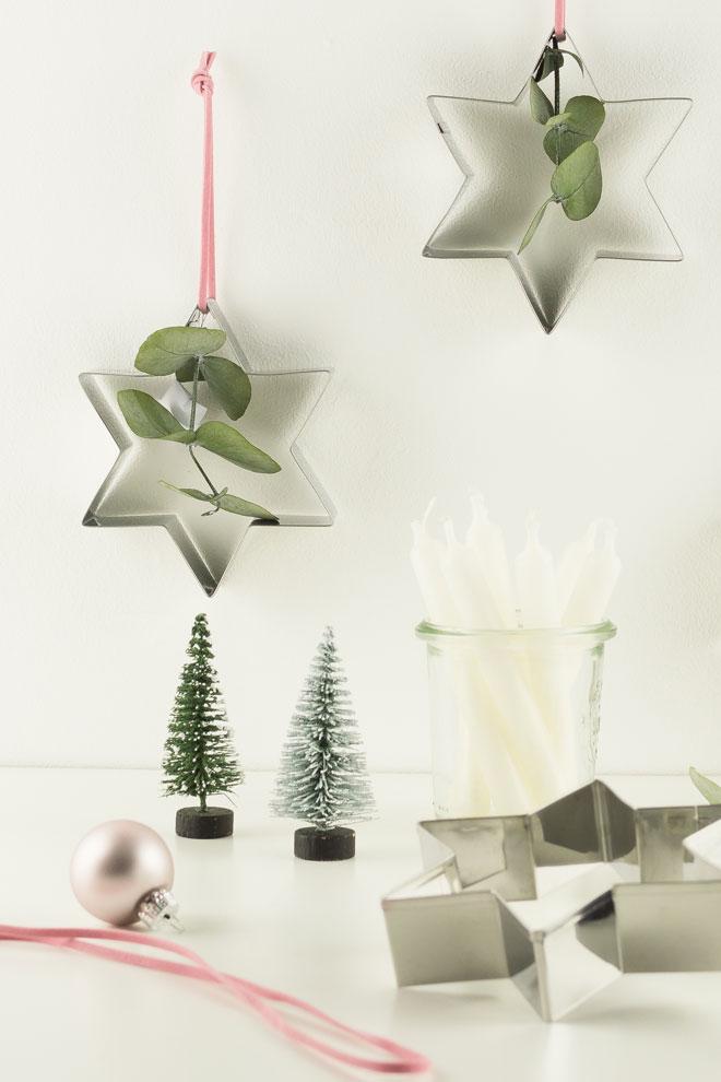 DIY Idee Weihnachtlichen Baumschmuck Basteln Mit Keksausstechern Und  Eukalyptus Macht Sich Auch Schön An Der