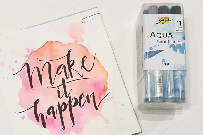 Aqua Paint Marker und ein Beispiellettering von KREUL