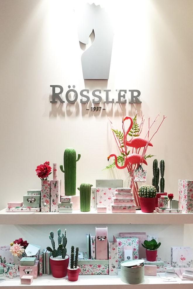 """Die Frühjahrskollektion """"Lovely Things"""" auf dem Stand von Rössler gestaltet von May & Berry"""