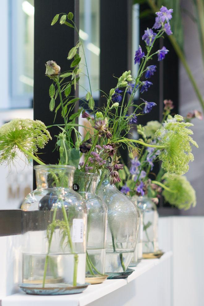 Dekoideen 2018 Blumenarrangements am Stand von House Doctor auf der Ambiente
