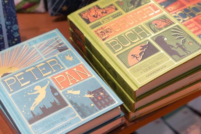 Dekoideen 2018 von der Ambiente, Schmuckausgaben Peter Pan und Das Dschungel Buch vom Coppenrath Verlag