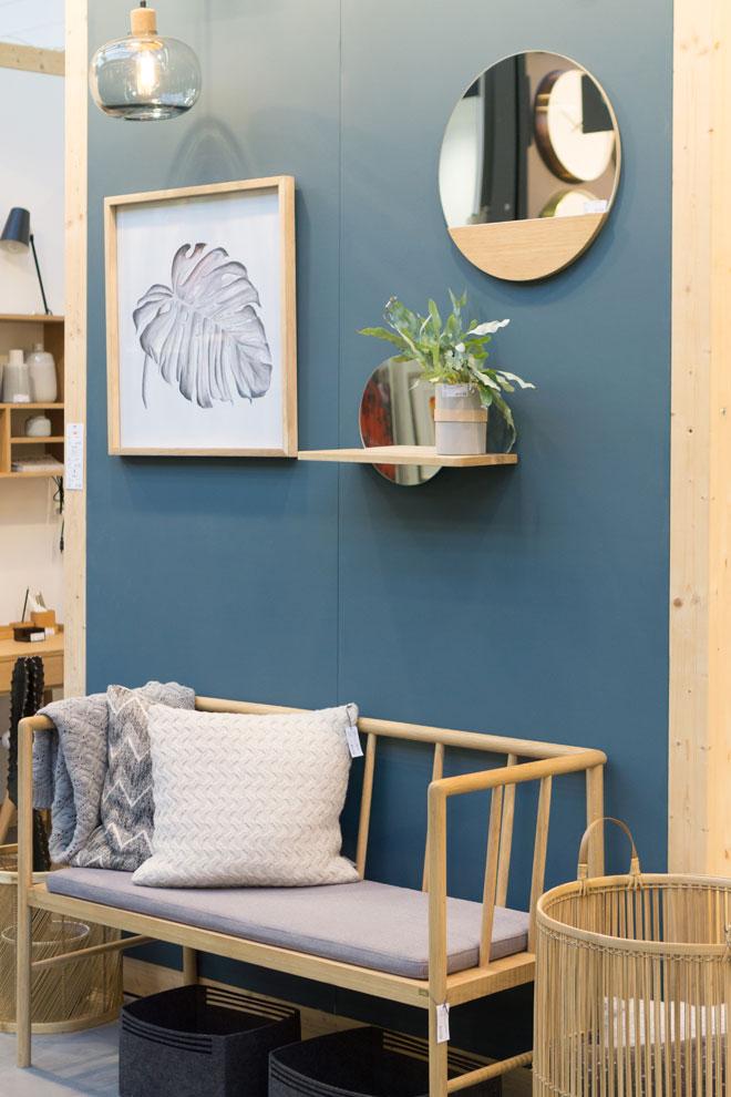 Pflanzen Deko 2018 auf der Ambiente, Hübsch Interior einzelne Pflanze mit Möbeln und Wand Accessoires aus Holz
