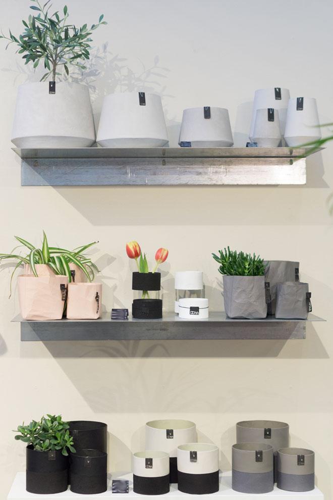 Pflanzen Deko 2018 von der Ambiente, unterschiedliche Materialien und Farben für Pflanztöpfe von Lübech Living.