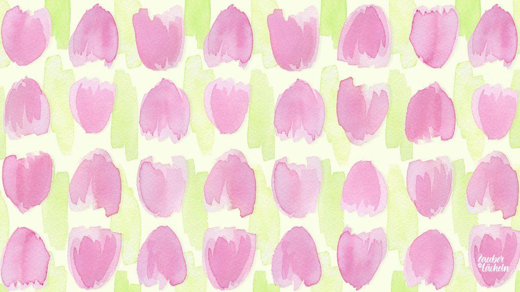 Wallpaper März 2018 mit Tulpen, kostenloser Hintergrund für PC