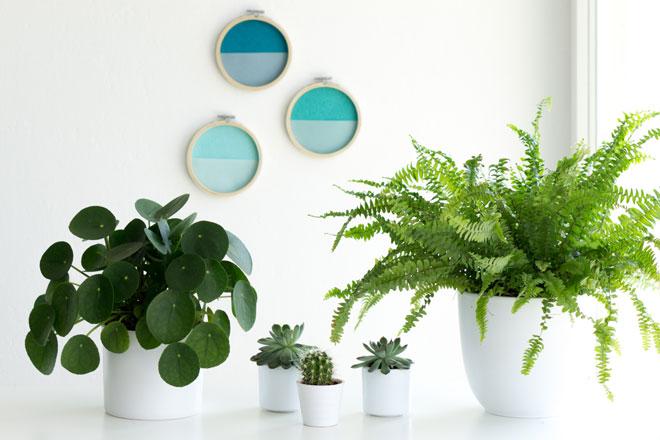 DIY-Idee, schöne Wanddeko selber machen