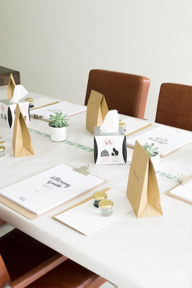 Lettering Workshop Workshopmaterial und Lettering Guide