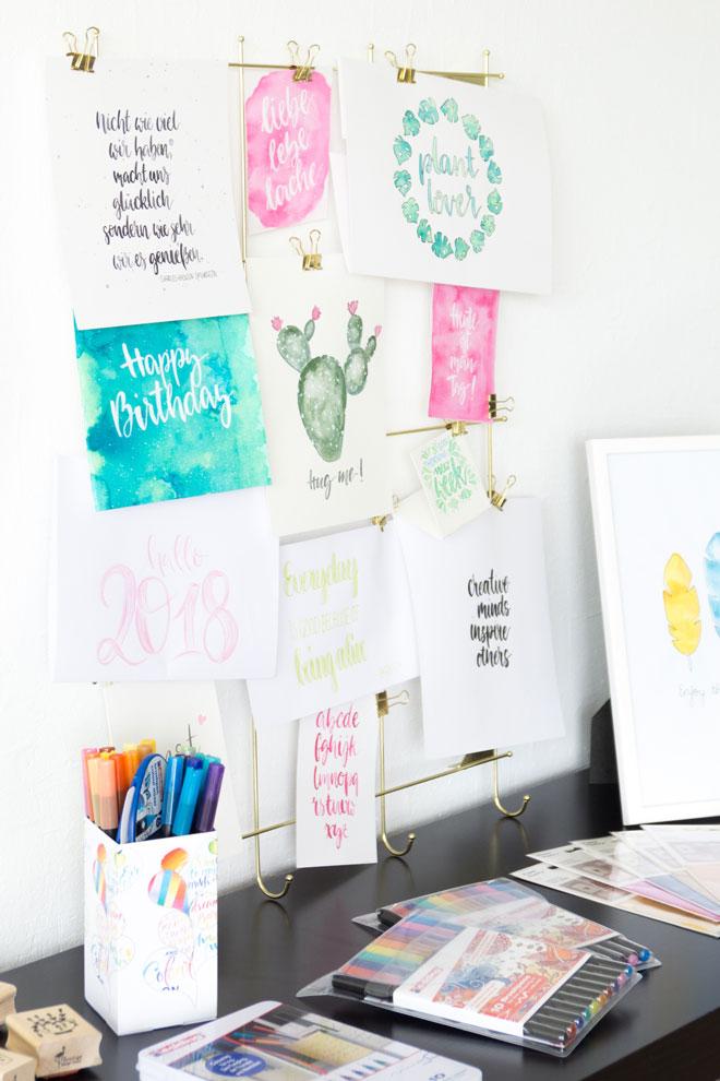 Lettering Workshop Lieblingsletterings als Beispiele