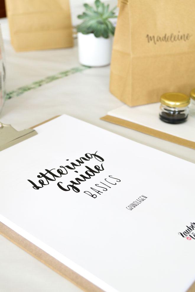 Mein Lettering Guide Basics