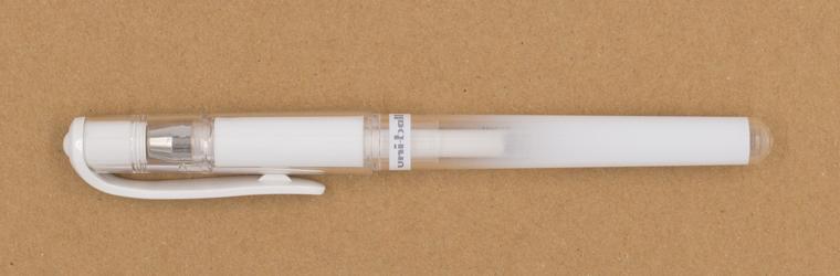 Lettering Stifte ein Guide mit weißen Stiften, uni-ballSigno Broad UM-153, 1 mm