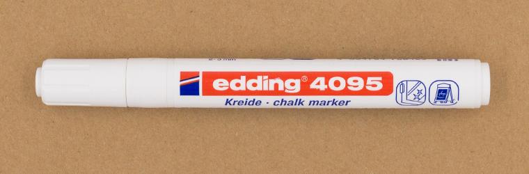 Neun Lettering Stifte im Test, Guide mit weißen Stiften, edding 4095 Kreidemarker, 2-3 mm