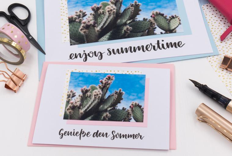 DIY-Karten gestalten und endlich mal wieder per Hand schreiben mit sommerlichem Motiv