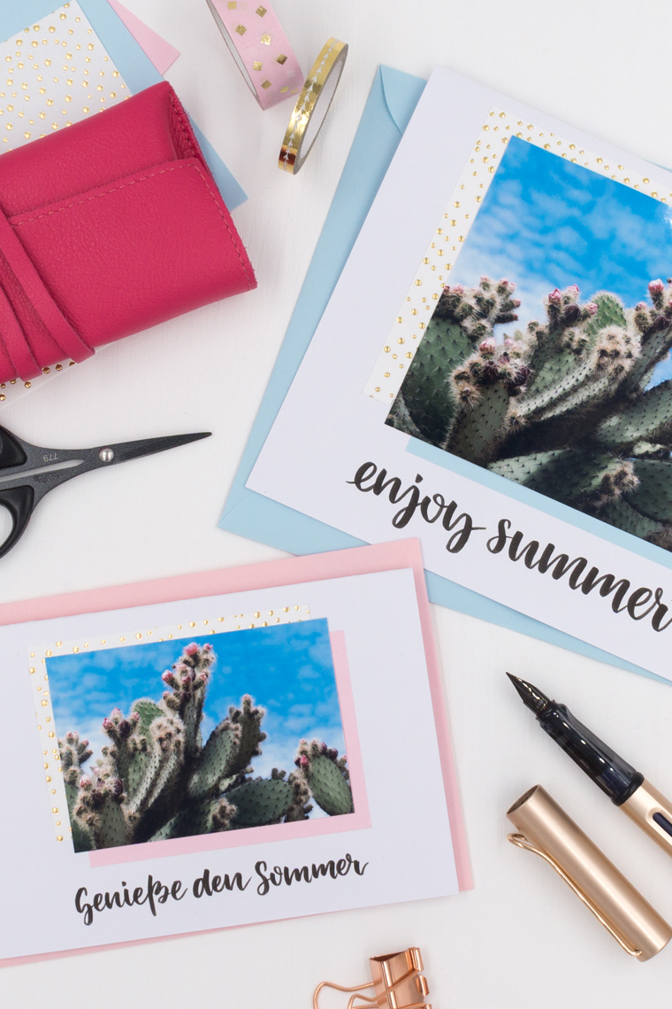 Schreib doch mal wieder: Karten gestalten und als Sommergrüße versenden