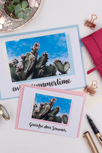 DIY | Karten gestalten: Verschickt doch mal Sommergrüße