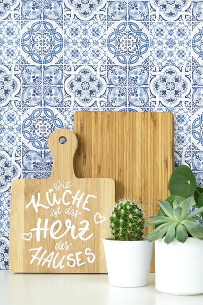 DIY | Küchendeko selber machen: Lettering auf einem Holzbrett