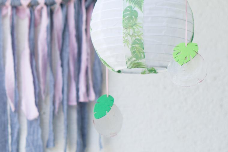 Gartendeko selber machen: Tropical Vibes Anhängern eine kleine DIY-Idee