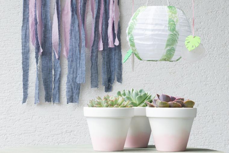 Gartendeko selber machen gleich vier Ideen auf einem Bild
