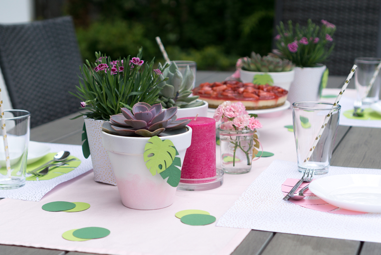 Party Deko für eine Tropical Vibes Gartenparty - Inspiration mit DIY-Ideen