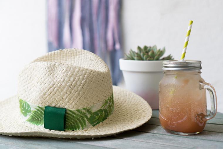 Selbst dekorierter Sonnenhut - Anleitung zum selber machen