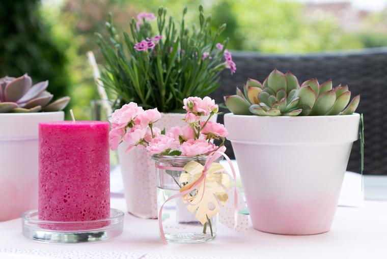 Tischdeko Vasen - Blumen für die Gartenparty