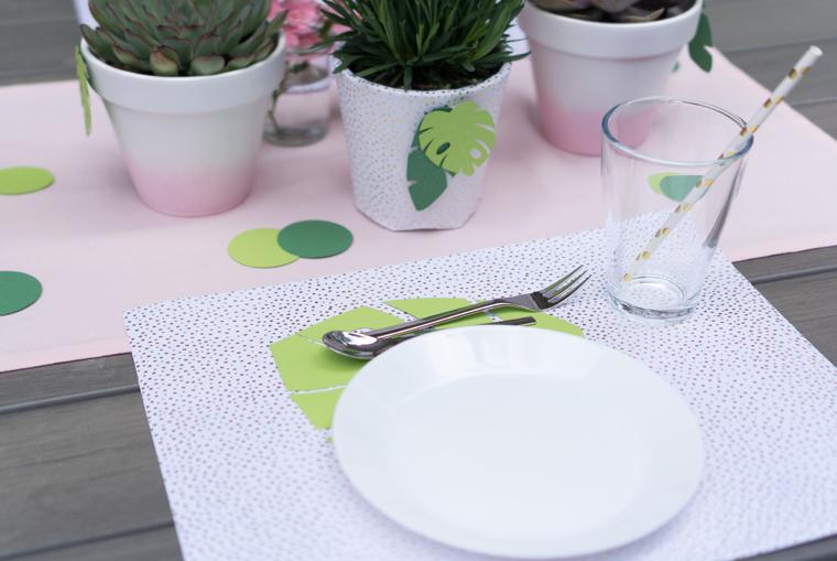 Tischsets für Tropical Vibes Party selber machen DIY-Idee als Party Deko