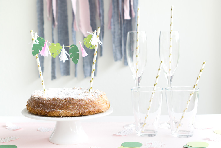 Cake Topper im Tropical Vibes Look selber machen