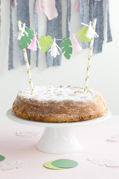 DIY-Idee Cake Topper selber machen für eine Tropical Vibes Party
