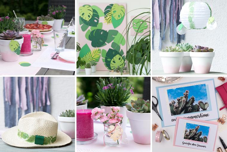 Sommer DIY-Ideen, eine große Sammlung mit mehr als 15 Inspirationen.