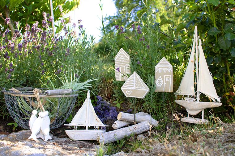 Für den Garten: Maritime Pflanzenstecker aus Knetbeton vom Blog Kreativliebe