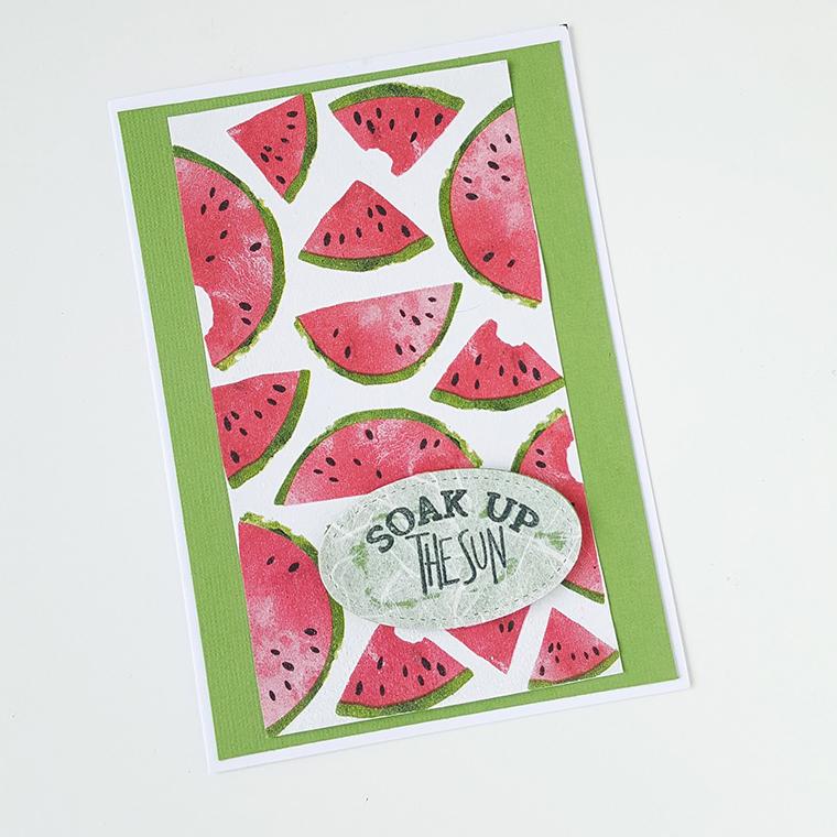 DIY für die Somerparty: Einladungskarten mit Melonen vom Blog ZiemlICH KreativICH