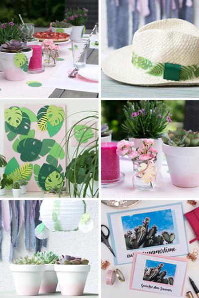Sommer DIY-Ideen mit über 15 wunderbaren Inspirationen zum Selbermachen.