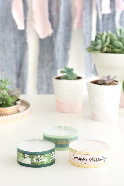 DIY | Kleines Mitbringsel Teelichter mit Lettering