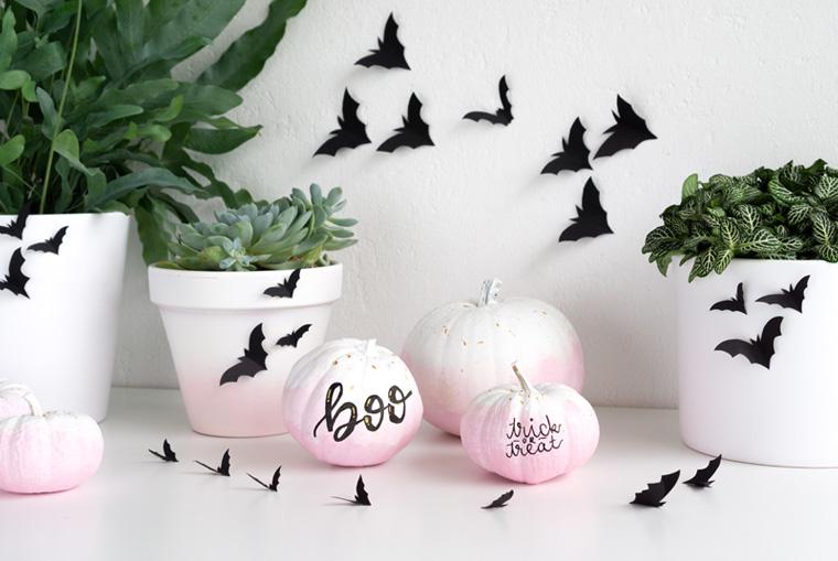 Schnelle DIY Halloween Deko mit Pflanzen