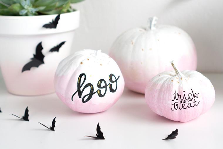 Halloween Kürbisse mit Lettering
