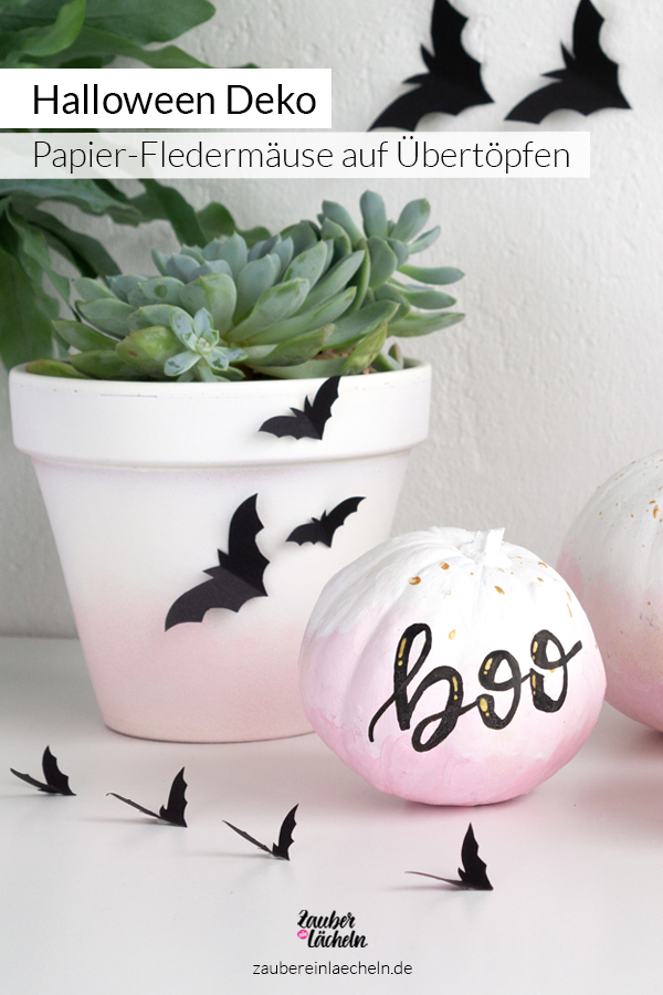 Halloween Deko schnell und einfach selber machen - Papier-Fledermäuse inklusive Vorlage und Deko-Idee jetzt entdecken.