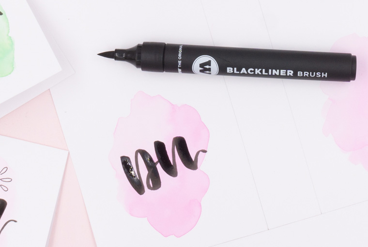 Brushlettering mit MOLOTOW BLACKLINER BRUSH