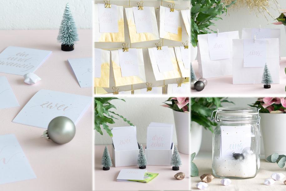 Zauberhafte Adventskalender-Ideen zum Selbermachen