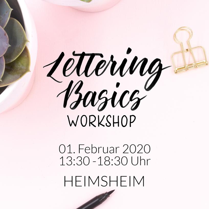 Lettering Basics Workshop 01.02.2020