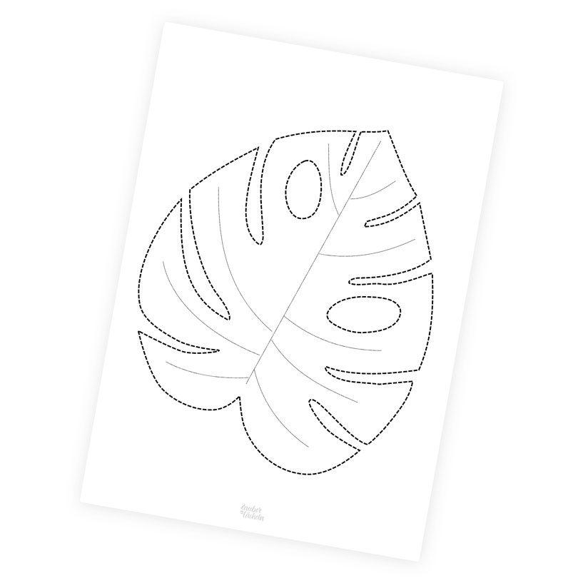 Zum Ausdrucken: DIY-Vorlage: Monsterablatt Tischset