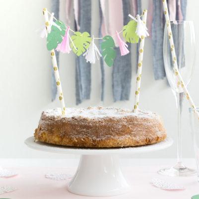 DIY-Vorlage: Tropische Blätter klein für Cake Topper