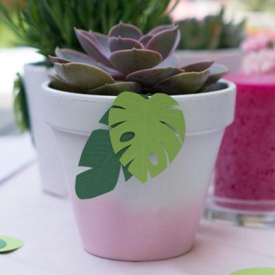Vorlage Tropische Blätter mittel für Deko