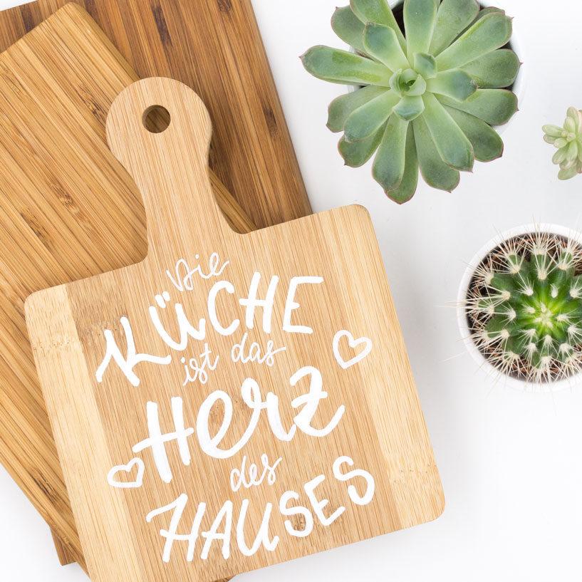Lettering Vorlage: DIe Küche ist das Herz des Hauses