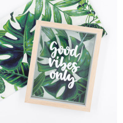 Handlettering Vorlage: Good vibes only