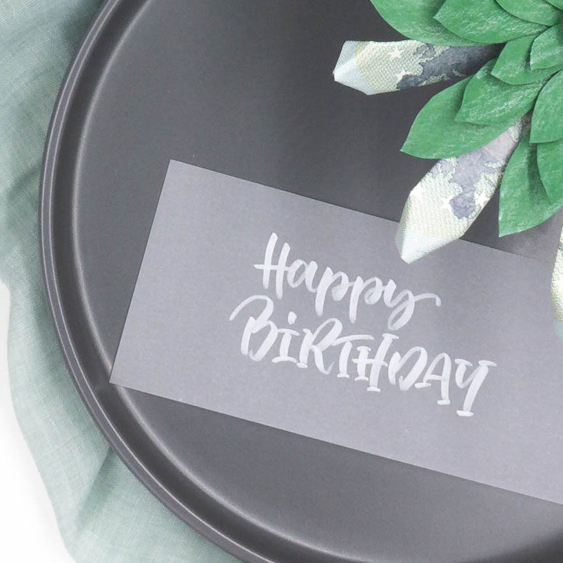 Lettering-Vorlage Happy Birthday zum Ausdrucken