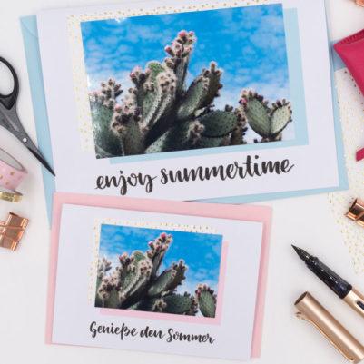 Lettering-Vorlage und DIY-Vorlage: Sommerliche Grüße