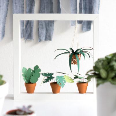Urban Jungle Mini Pflanzen DIY-Vorlage zum Ausdrucken