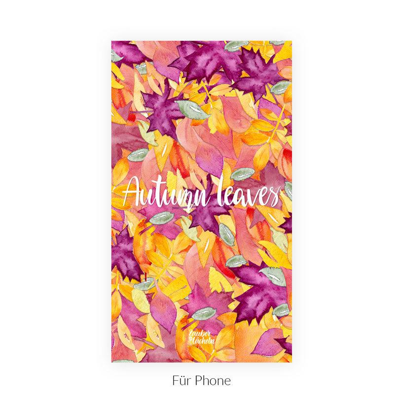 Kostenloses Wallpaper Autumn Leaves Phone