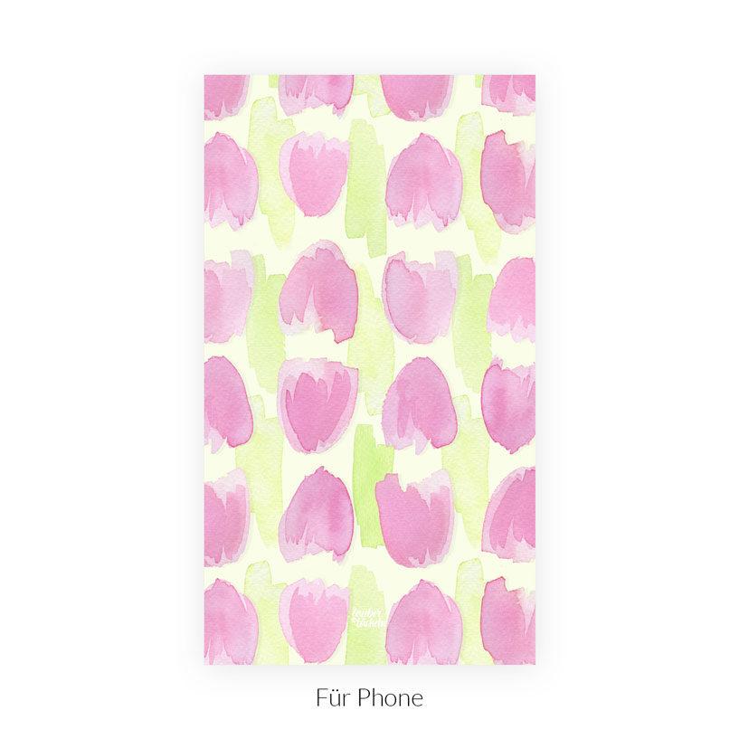 Wallpaper Frühlingsboten Tulpen Phone